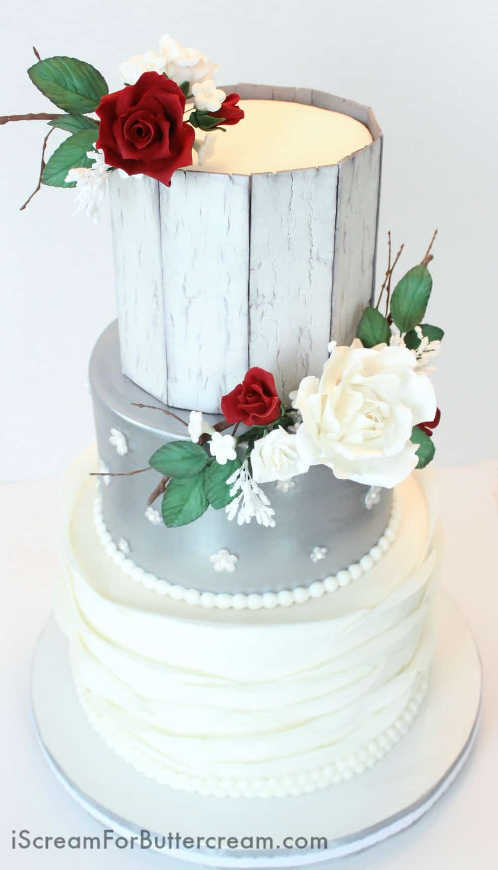 wedding cake elegant rustic rustic silver wedding cake i scream for buttercream 22566