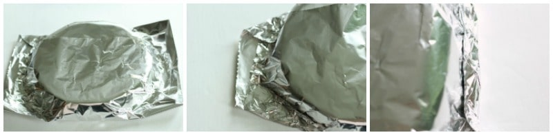 Wrapping the Cakes in foil