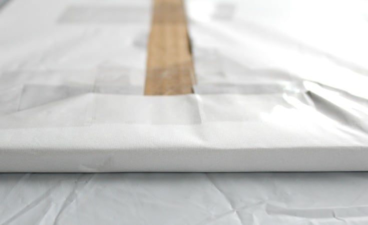 Covered edges of a square board