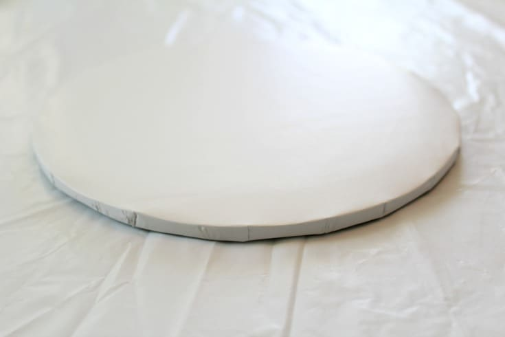 covered round cake board