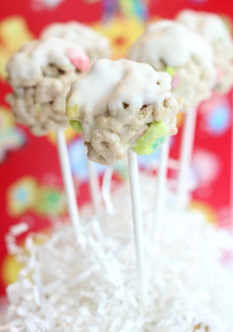 Lucky Charms White Chocolate Cereal Pops