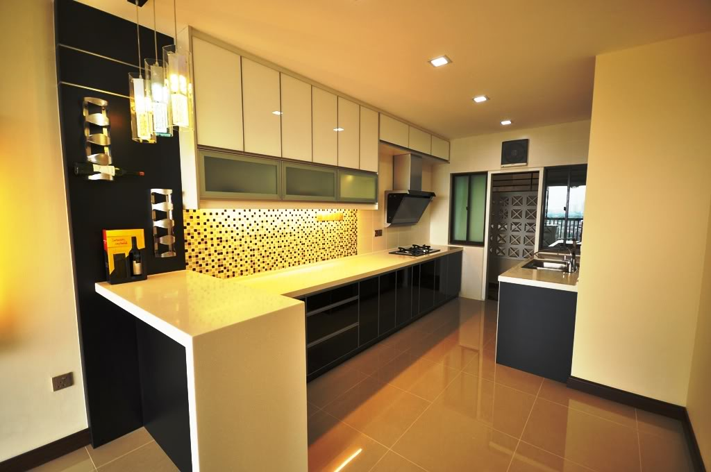 Awesome Black And White Kitchen With 3G Glass Part 4