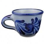 Espressotasse Handgeblautes Salzglasiertes Steinzeug Grau Blau Geschirr Traditionelle Westerwalder Motive Gedeckter Tisch Nr Ki Gt Pk 22496