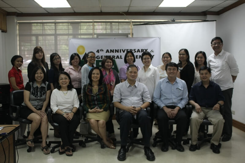 ISEA  officers, Philippine-based members and staff pose during ISEA's 4th Anniversary.