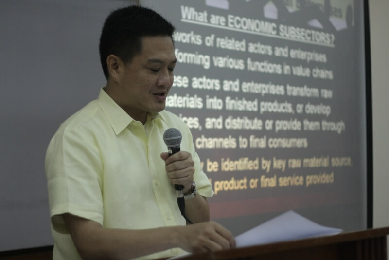"Deputy Speaker Lorenzo ""Erin"" Tañada III delivers  his keynote address  on Accelerating Poverty Reduction Through Social Entrepreneurship, which he considers as the essence of House Bill 6085."
