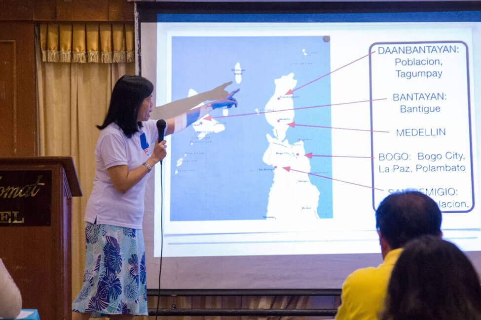 Ms. Teresa Ruelas, ISEA Research Associate, presents highlights from the focus group discussions conducted in Northern Cebu.