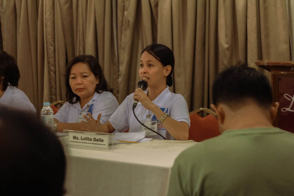 Representatives from the SERVE Conference meet the press during the second day.
