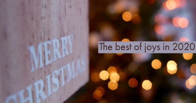 Merry Christmas, The best of joys in 2020