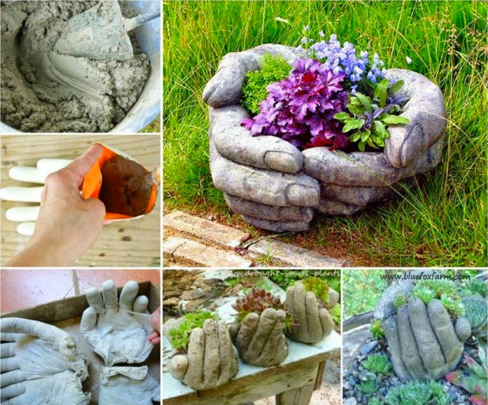 DIY Hand Cupped Stone Garden Planter ISeeiDoiMake