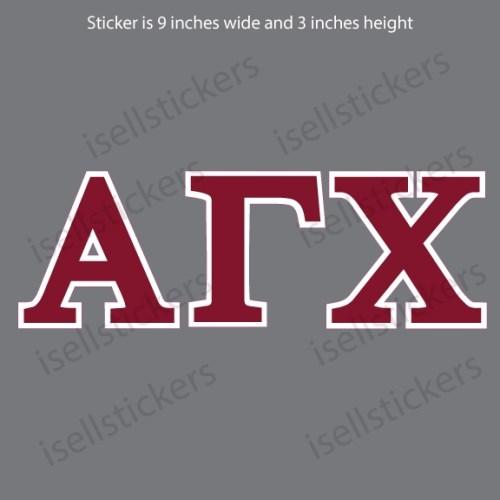 Alpha Gamma Chi Standard Car Window Decal Bumper Sticker