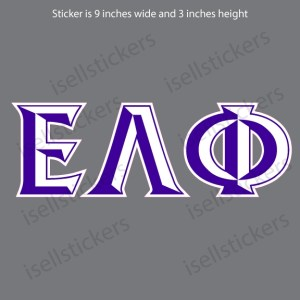 Lee University Epsilon Lambda Phi Chiseled Window Bumper Sticker Car Decal