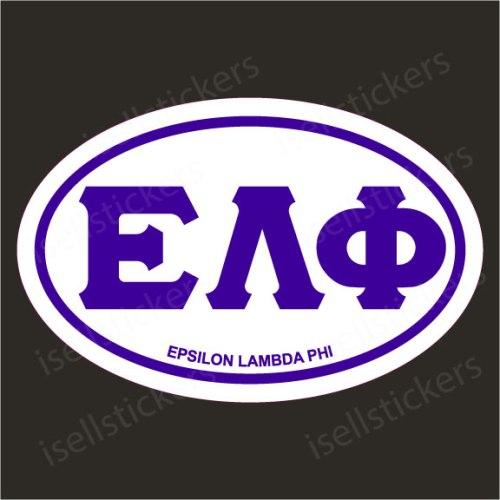 Lee University Epsilon Lambda Phi Euro Window Bumper Sticker Car Decal