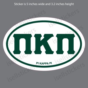 Lee University Pi Kappa Pi Greek Euro Car Window Decal Bumper Sticker