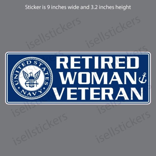 Retired Navy Woman Veteran USN Decal Sticker