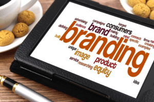 branding using tablet