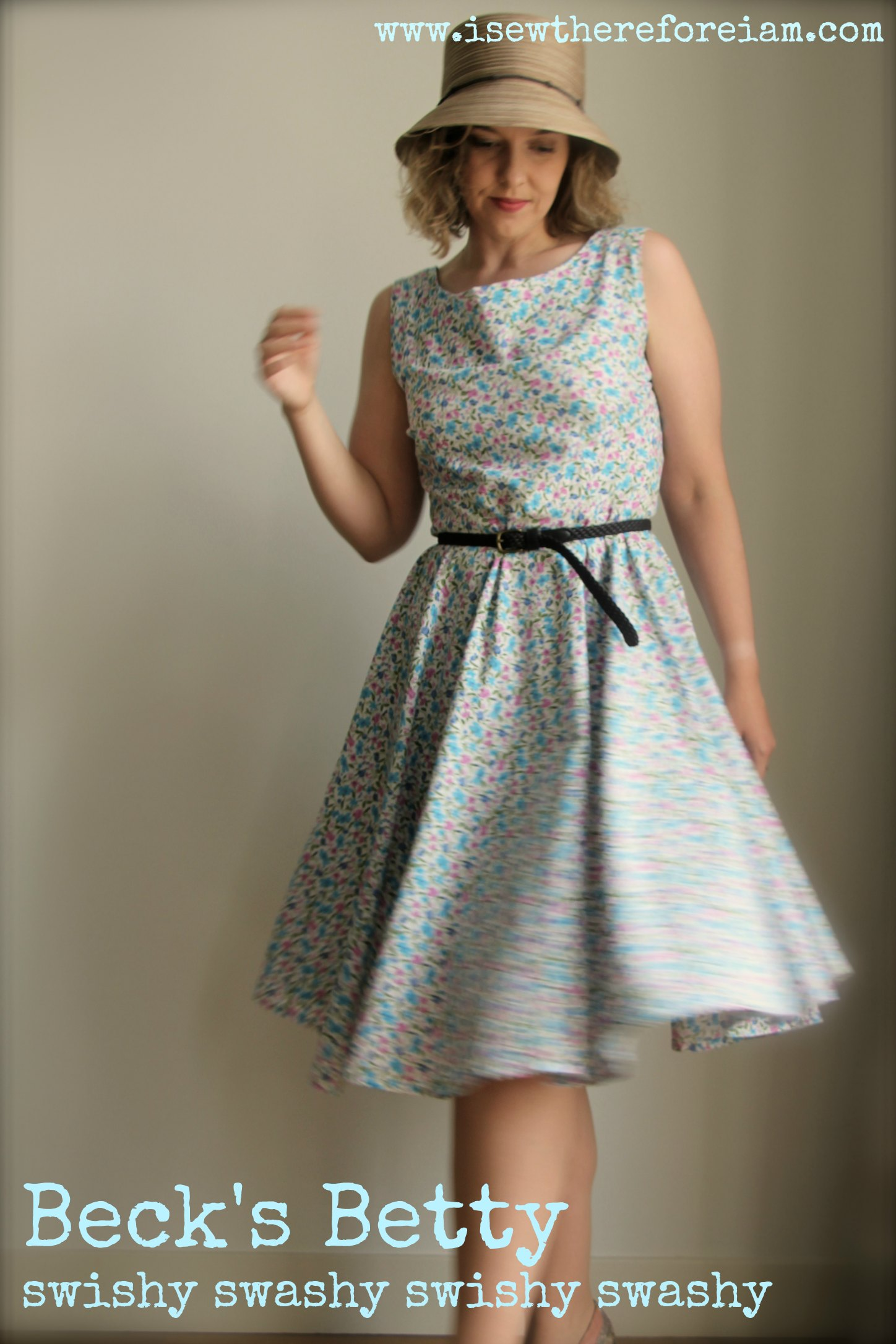 A Betty dress in floral print. I love the effect of the circle skirt and a great dress for beginners