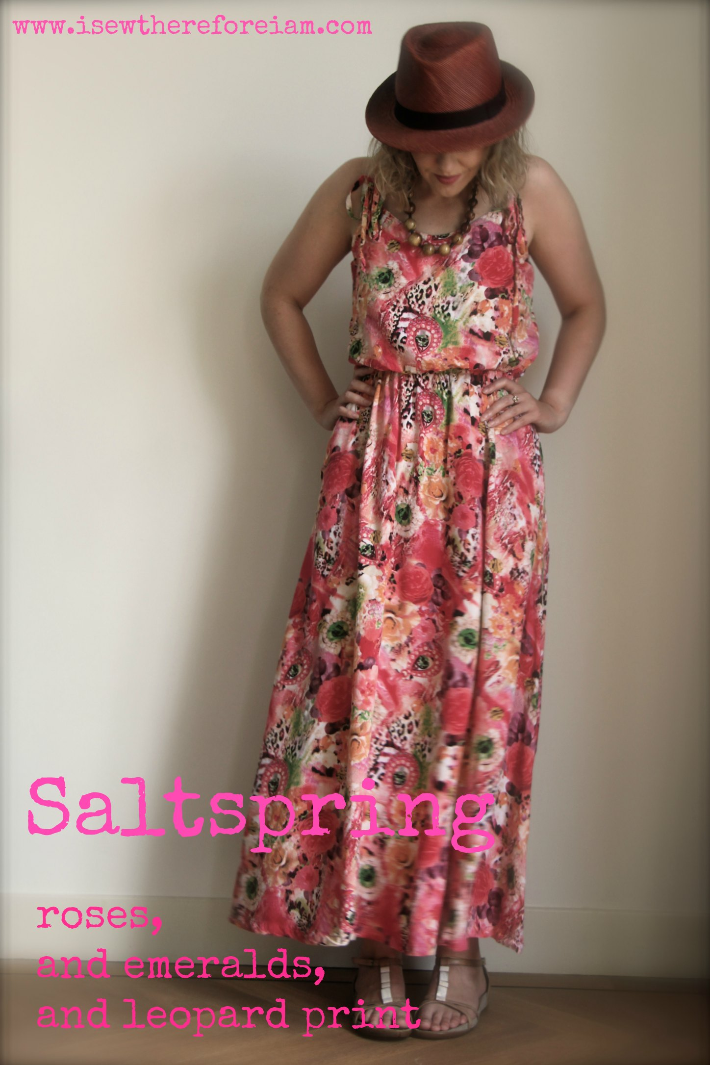 Sewaholic Saltspring is a great maxi dress pattern for beginners. Made up in a digitally printed rayon