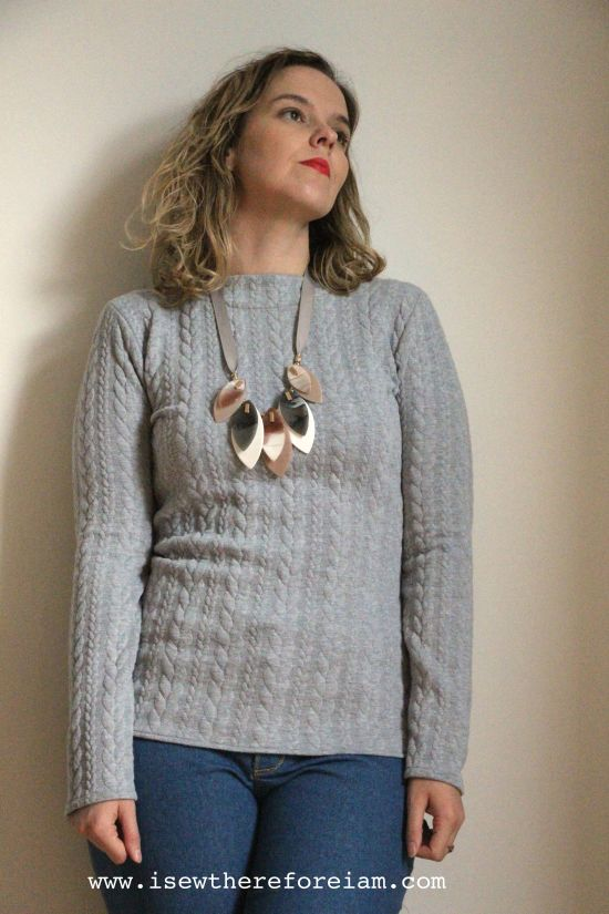 The Gable Top by Jennifer Lauren in a cabled ponte knit