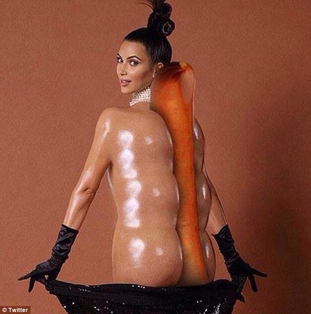 Yum yum, The reality star was morphed into a tasty hot dog by one internet