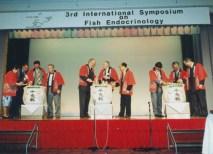 From left to right: Madeleine Olivereau, Bernard Breton, Henk Goos, Aubrey Gorbman, Dick Peter, Roger Ascher, John Yu, Kohei Yamauchi, Tetsuya Hirano