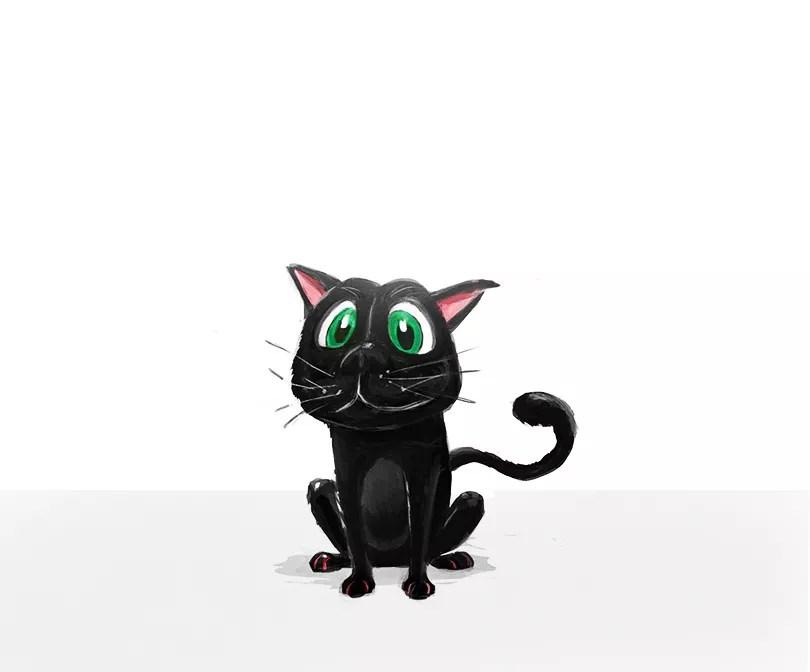 cute cat illustration