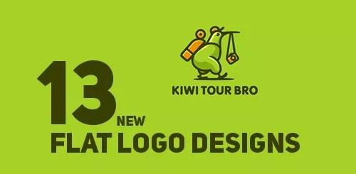 Flat Color Logo Designs