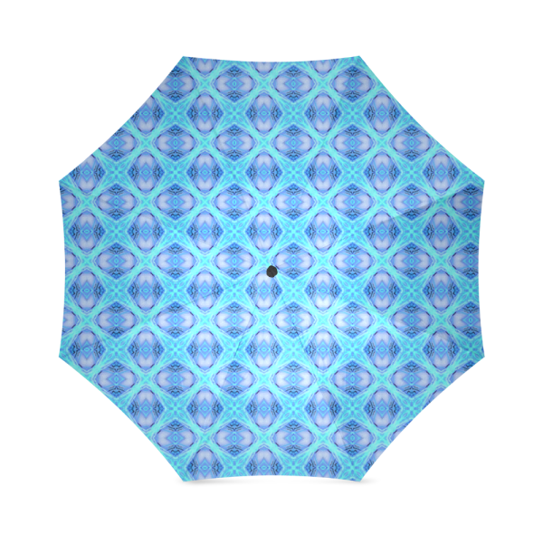 Abstract Circles Arches Lattice Aqua Blue | Foldable Umbrella
