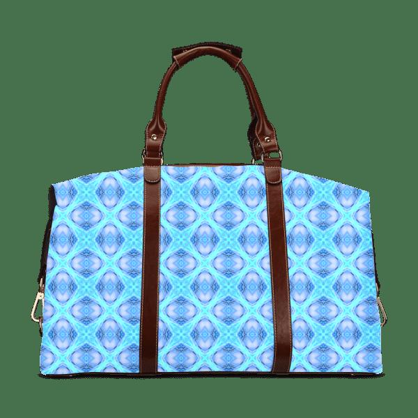 Abstract Circles Arches Lattice Aqua Blue Classic Travel Bag (Model 1643)
