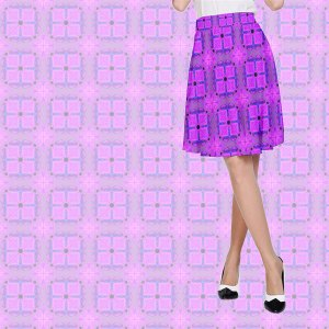 Abstract Dancing Diamonds Purple Violet Pattern | A-Line Skirt