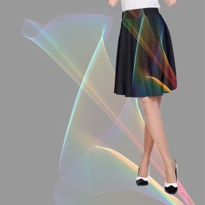 Abstract Rainbow Lily, Colorful Mystical Flower   A-Line Skirt