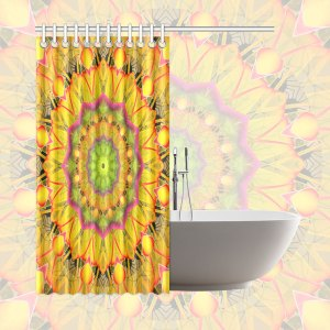"Beach Grass Golden Red Foliage Abstract Fall Days | Shower Curtain 66""x72"""