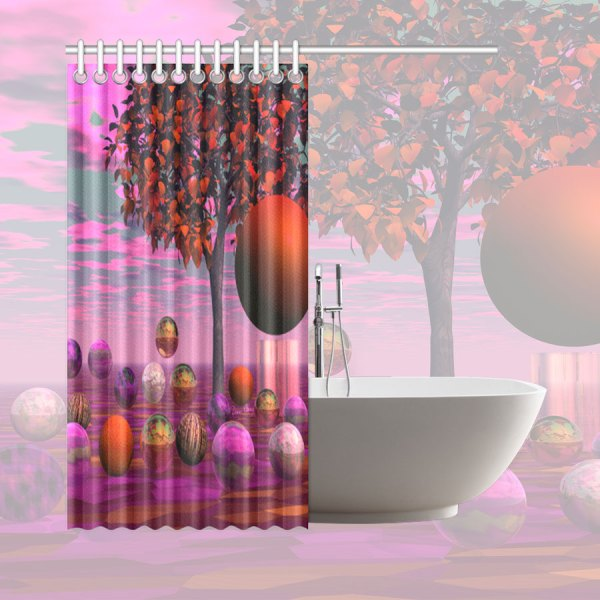 "Bittersweet Opinion, Bronze Raspberry Maple Tree | Shower Curtain 66""x72"""