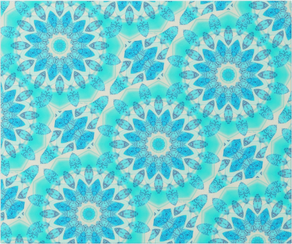 Blue Ice Goddess, Abstract Crystals of Love Mandala | Wrapping Paper | Flat