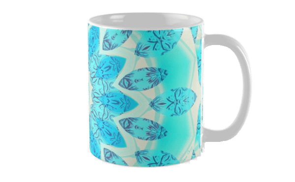 Blue Ice Goddess, Abstract Crystals of Love Mandala | Mug