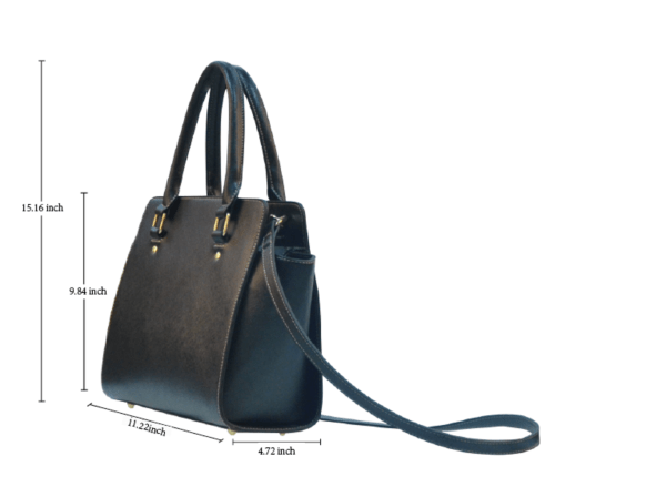 Classic Shoulder Handbag (Model 1653) Dimensions