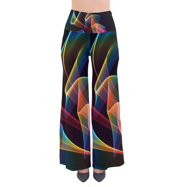 Crystal Rainbow, Abstract Winds Of Love | Palazzo Pants | DianeClancy @CowCow