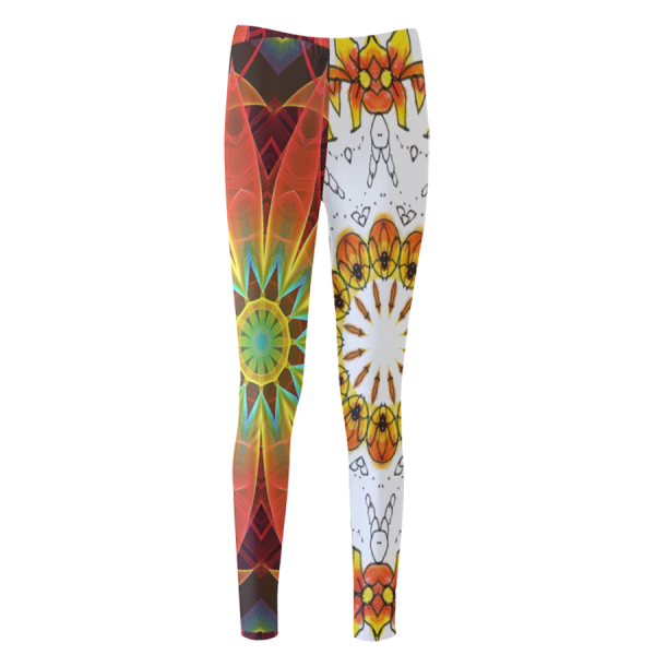 Radiance and Light Dancing Ladybugs Mandala | Women's Leggings | DianeClancy @Society6 title=Dancing Orange Ladybugs Mandala | Leggings | DianeClancy @ ArtsAdd