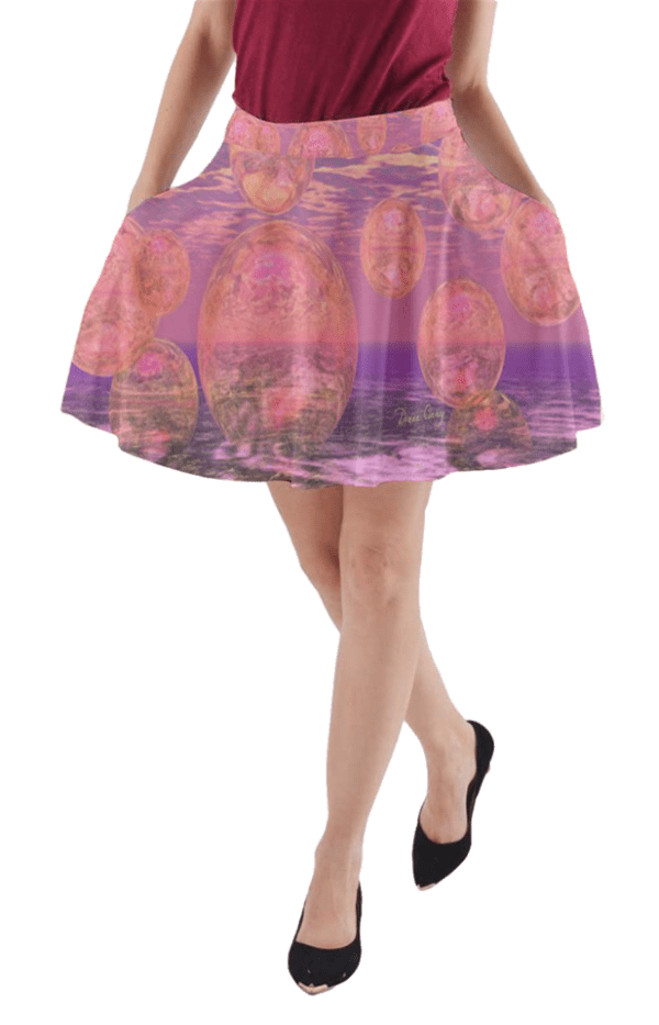 Glorious Skies, Abstract Pink Yellow Dream | A-Line Pocket Skirt