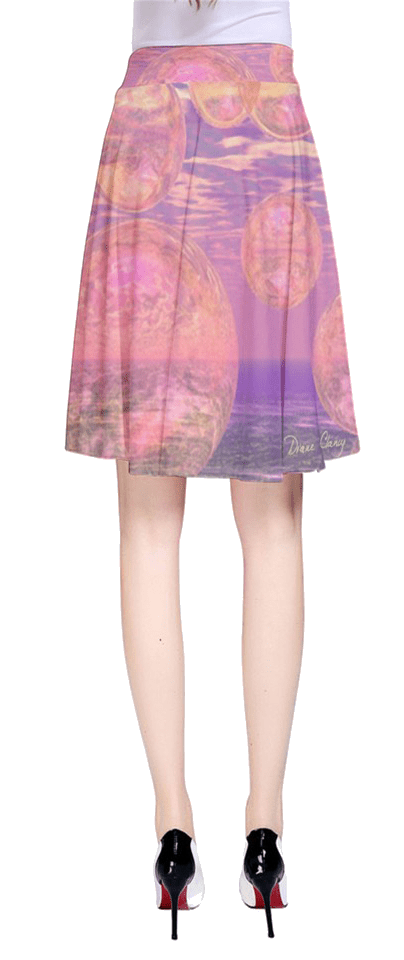 Glorious Skies, Abstract Pink Yellow Dream   A-Line Skirt