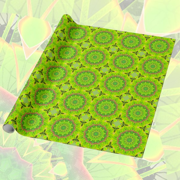 Golden Green Foliage Ferns Abstract Summer Days | Wrapping Paper