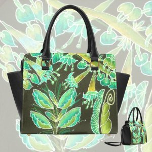 Irish Garden, Lime Green Flowers Dance in Joy | Classic Shoulder Handbag