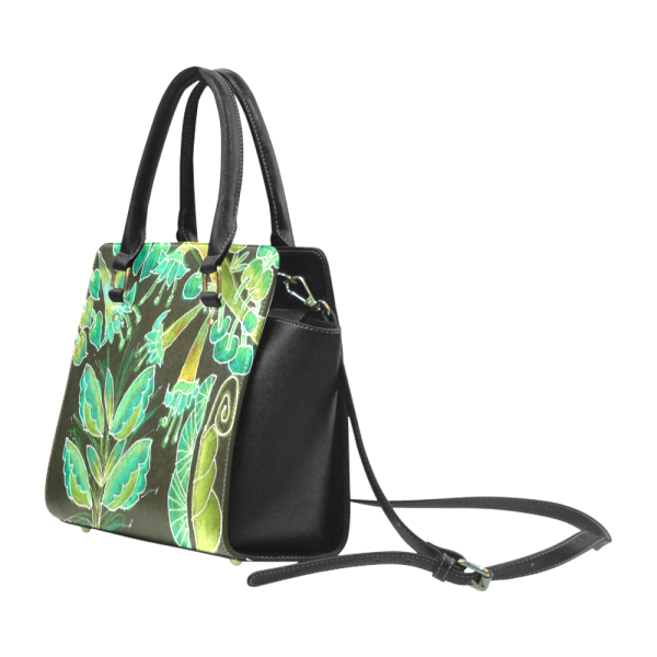 Irish Garden, Lime Green Flowers Dance in Joy | Classic Shoulder Handbag