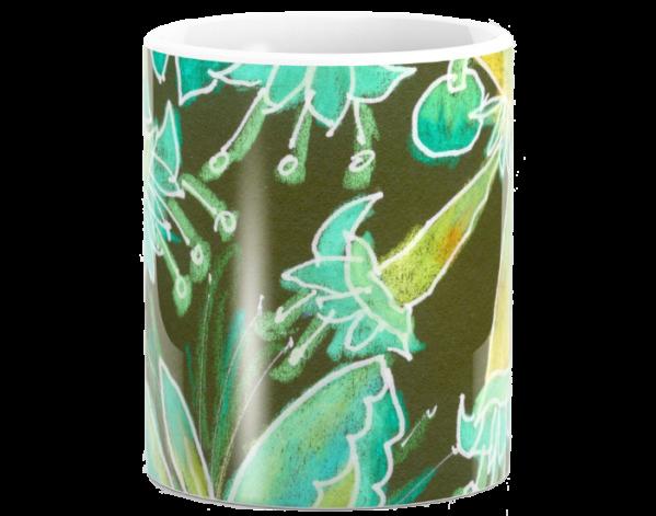 Irish Garden, Lime Green Flowers Dance in Joy Zendoodle | Mug