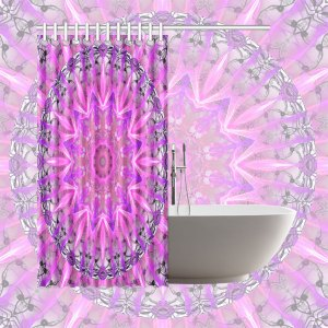 """Lavender Lace Abstract Pink Light Love Lattice   Shower Curtain 66""""x72"""""""