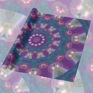 Light Gatherers, Souls, Magical Abstract Purple Mandala | Wrapping Paper
