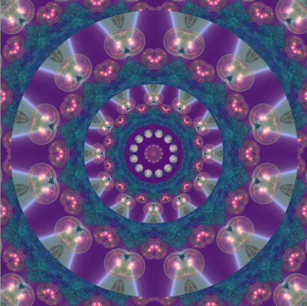 Light Gatherers, Souls, Magical Abstract Purple Mandala | Wrapping Paper| Original