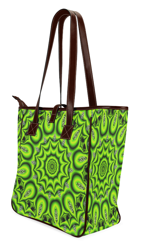 Spring Lime Green Garden Mandala, Abstract Spirals | Classic Tote Bag