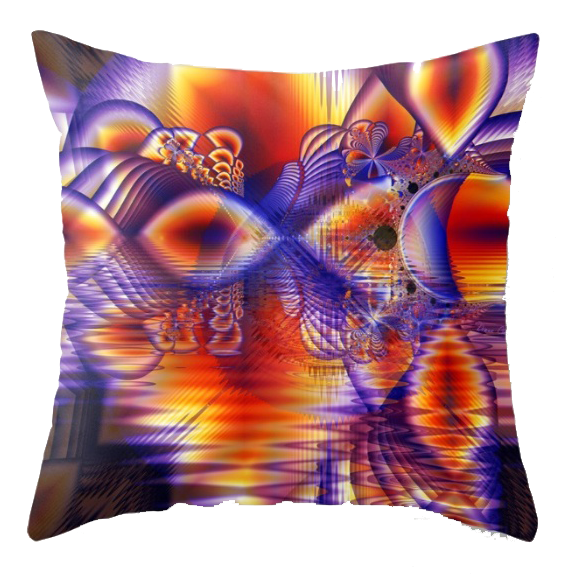 Winter Crystal Palace, Abstract Cosmic Dream | Throw Pillow