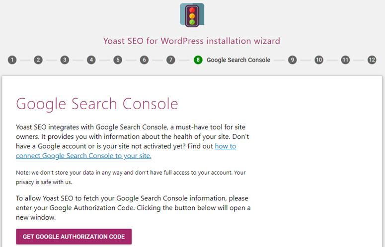 yoast seo google search console