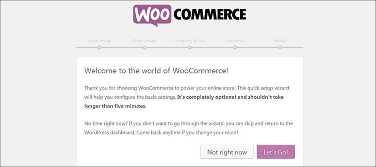 Messaggio di benvenuto di WooCommerce